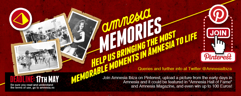 Campaña en Pinterest Amnesia Ibiza: Concurso Amnesia Memories