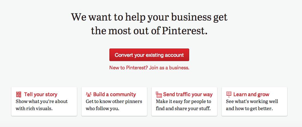 cómo crear una página de empresa en Pinterest