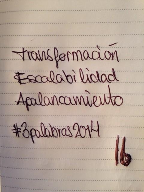 Mis tres palabras para 2014