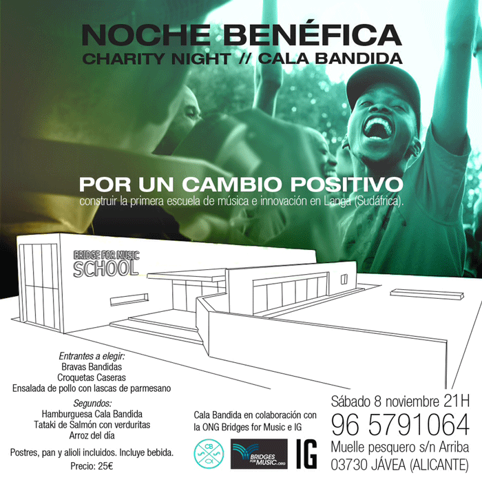 noche benefica cala bandida bridges for music