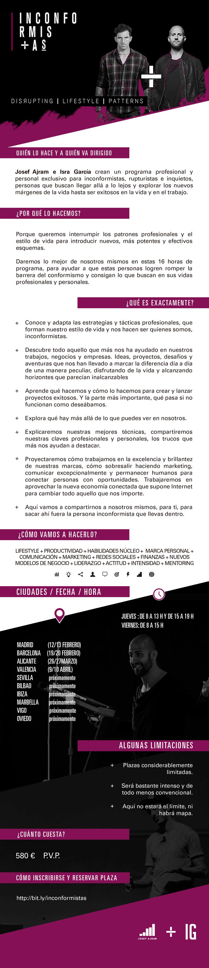 Inconformistas Josef Ajram Isra Garcia infografia Inconformistas