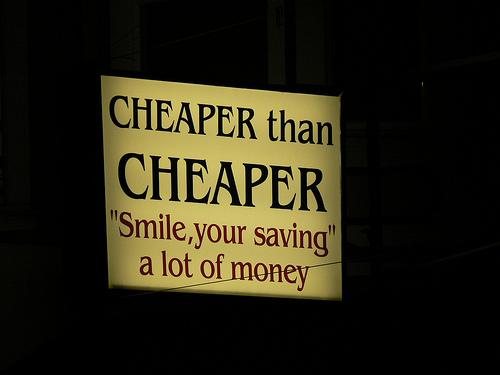 como de barato eres