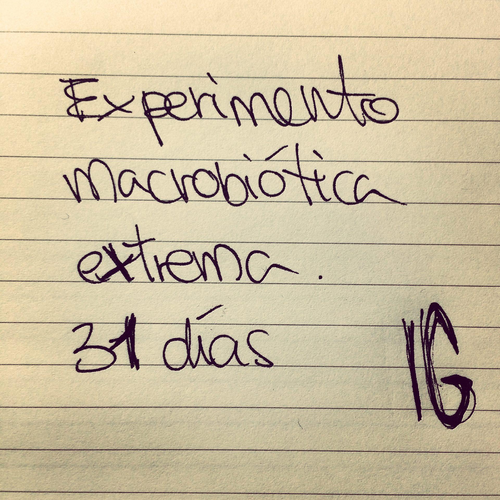 experimento alimentación macrobiótica extrema