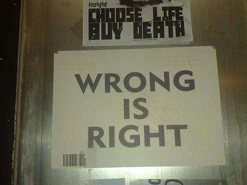 Estás equivocado