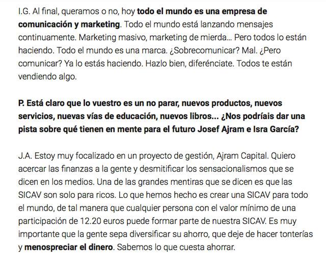Entrevista Inconformistas ElConfidencial