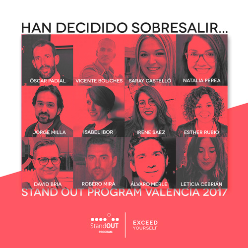 12 participantes Stand OUT Program Valencia 2017