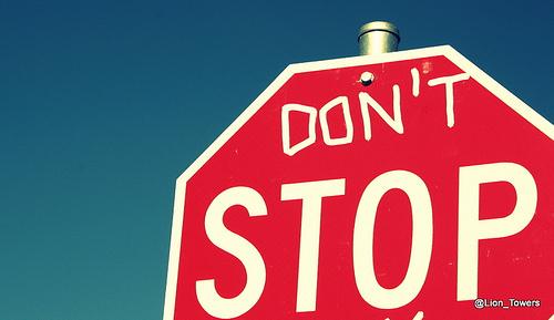 no parar