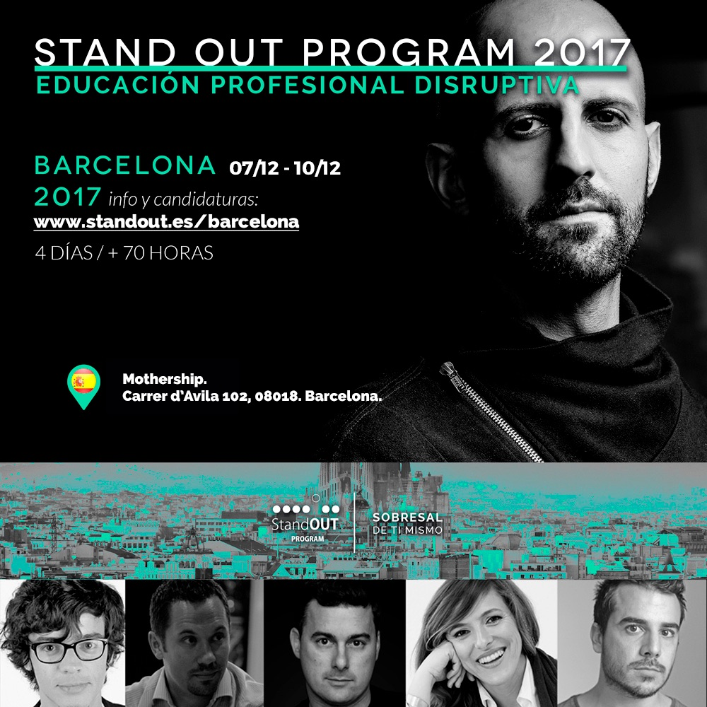 Stand OUT Program Barcelona 2017