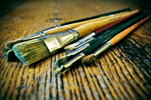 El pintor y sus cuadros y el trabajo que importa