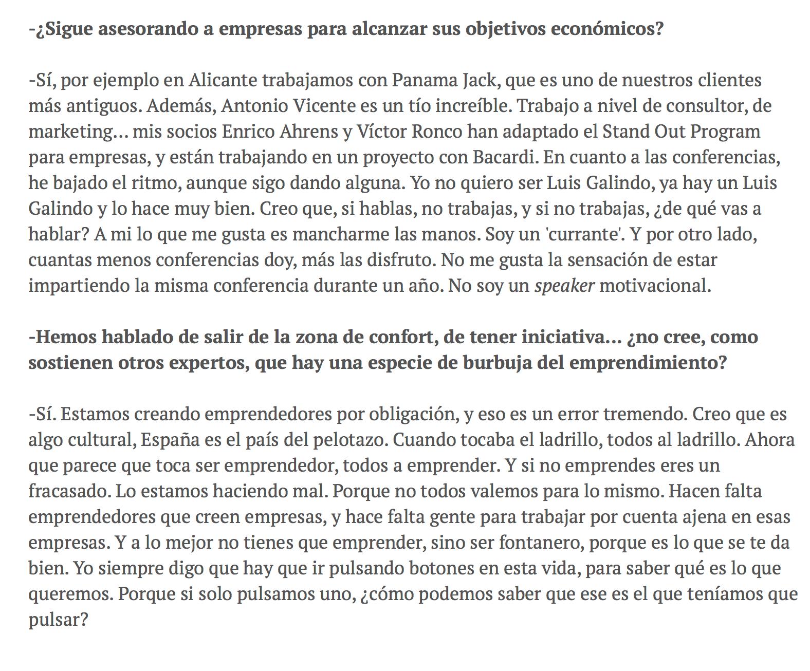 programa de excelencia para desempleados Isra García