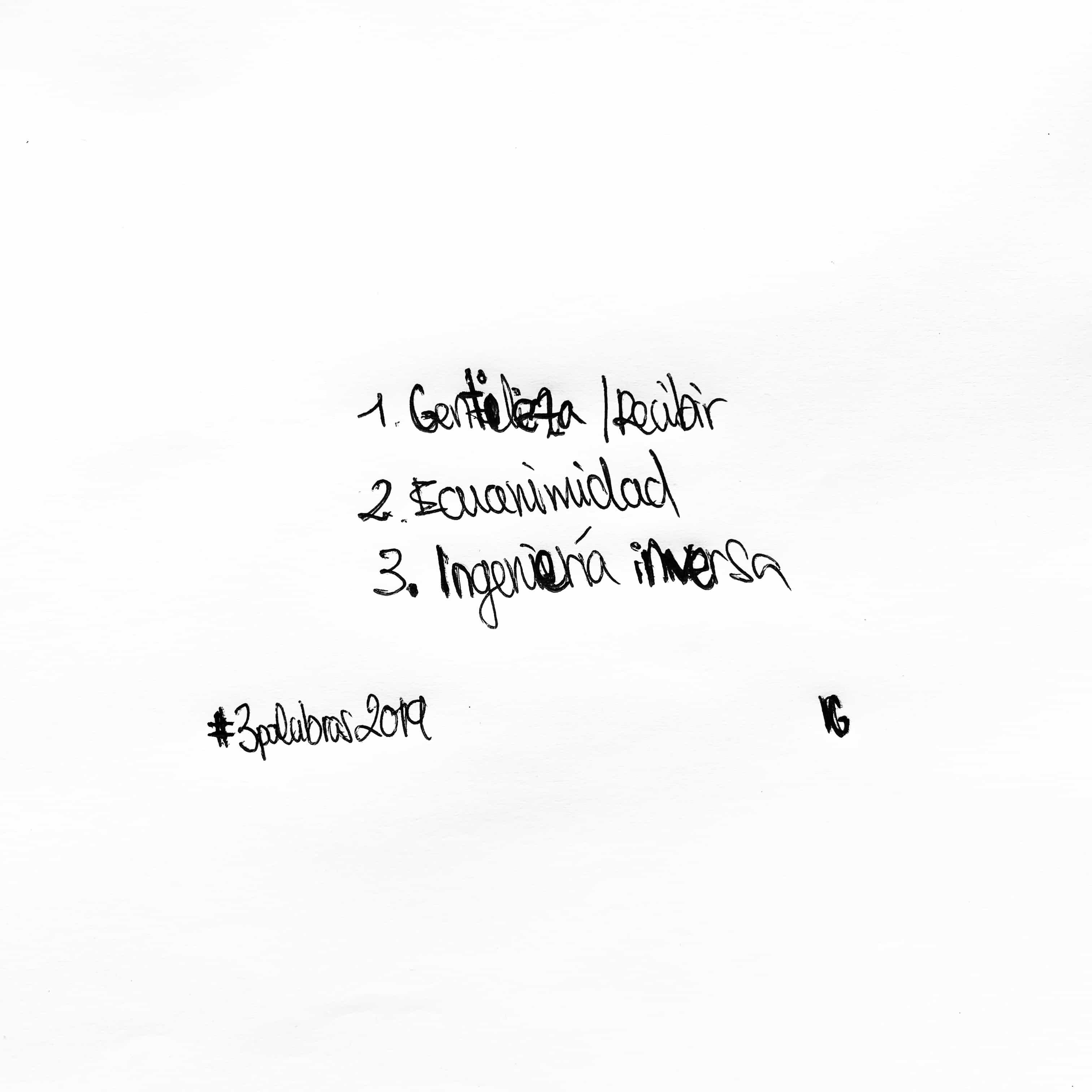 Las tres palabras para 2019 de Isra García