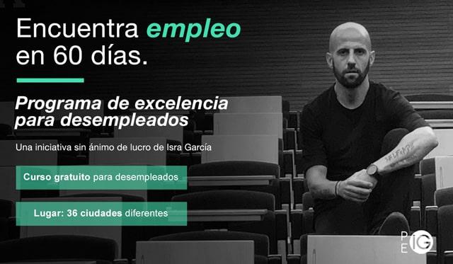 Programa de excelencia para personas en desempleo Isra García
