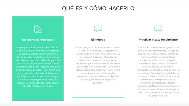 Método Programa de excelencia para personas en desempleo Isra García