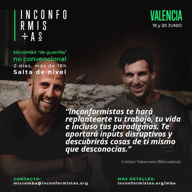Inconformistas Valencia 2019