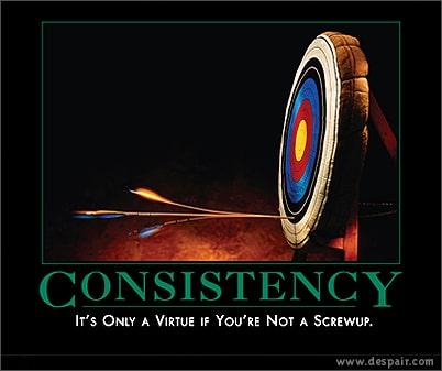 Consistencia una gran habilidad núcleo y una virtud