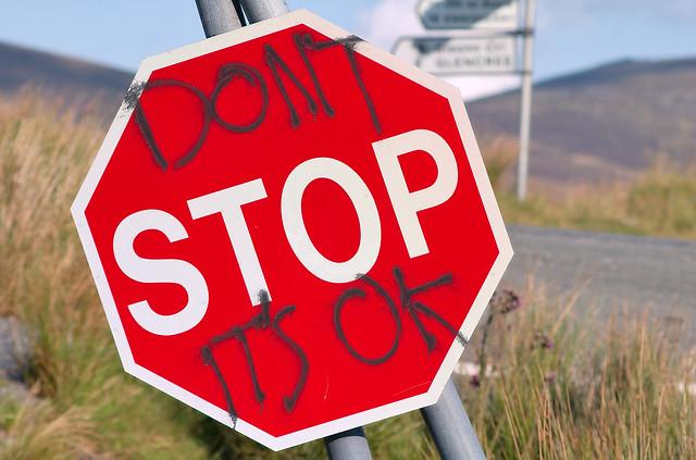 no parar de empujar