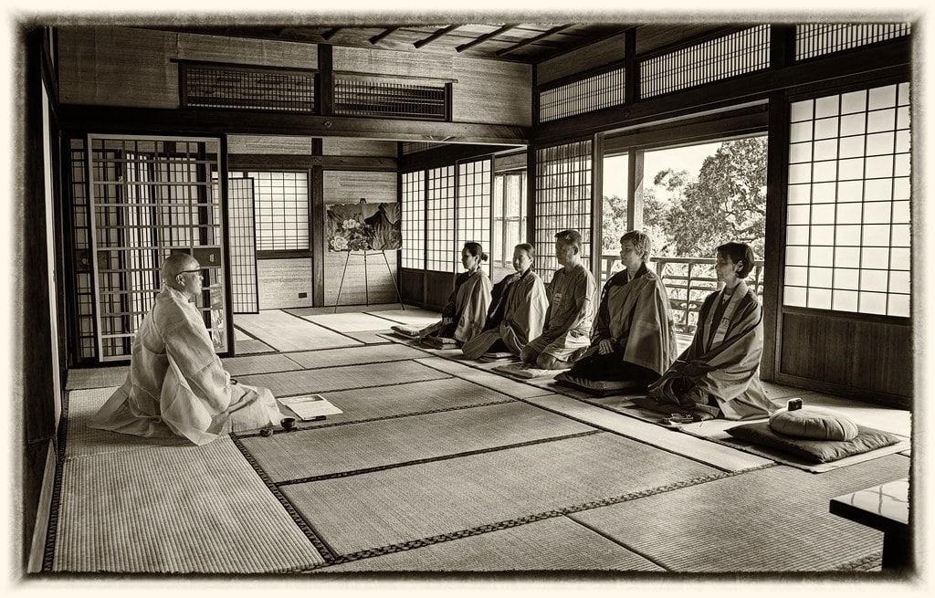la meditación zen y zazen y la naturaleza buda